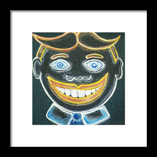 Tillie Of Asbury Park Framed Print featuring the painting Glow in the dark Tillie by Patricia Arroyo