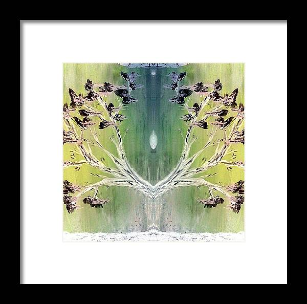 Inspiration Framed Print featuring the painting Glow by Lady Ex