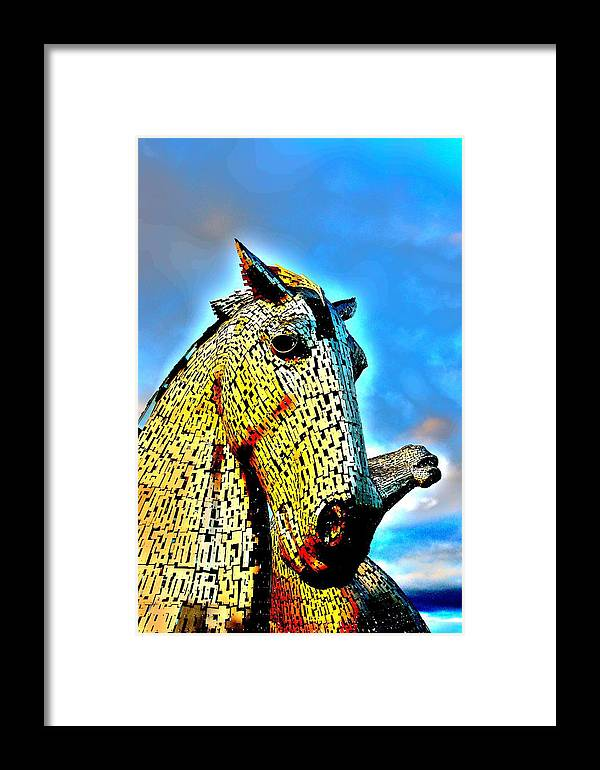 Nik Watt Framed Print featuring the photograph Glowing Head by Nik Watt