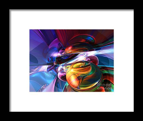 3d Framed Print featuring the digital art Glowing Life Abstract by Alexander Butler