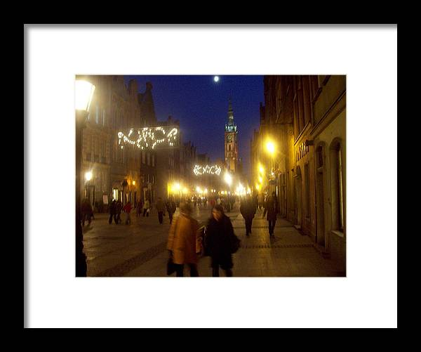 Old Gdansk Framed Print featuring the photograph Glowing Old Gdansk by J Anthony Shuff