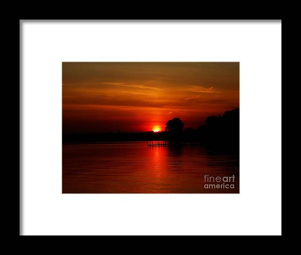 Framed Print featuring the photograph Glowing Oranges by Scott B Bennett