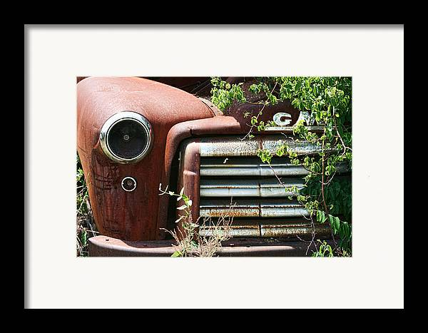Gmc Framed Print featuring the photograph Gmc Grill Work by Kathy Clark