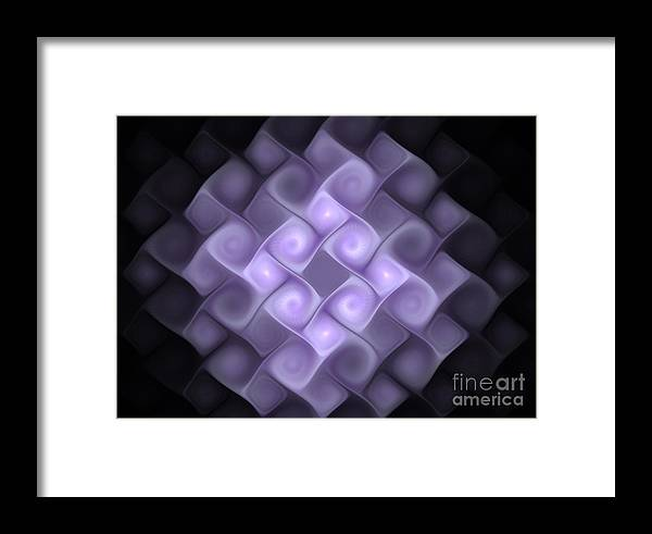 Fractal Framed Print featuring the digital art Gnarly Blocks by Keith Andersen