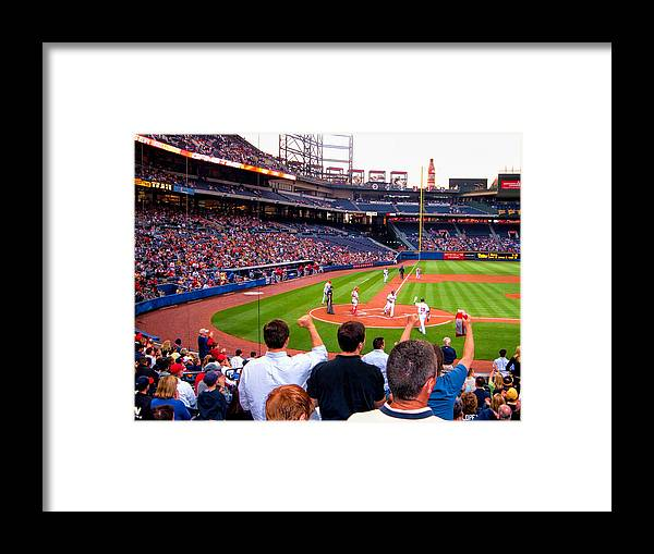 Baseball Framed Print featuring the photograph Go Bravos by Larry Bishop