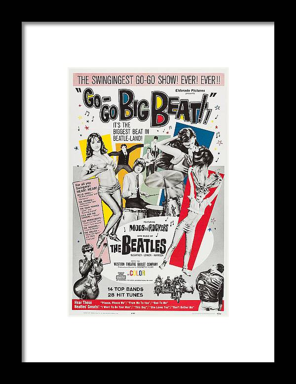 1960s Framed Print featuring the photograph Go-go Big Beat, Us Poster, 1965 by Everett