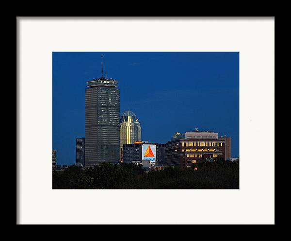Opening Framed Print featuring the photograph Go Red Sox by Juergen Roth