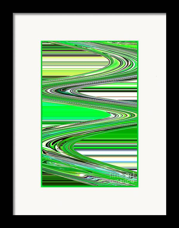 Green Abstract Framed Print featuring the photograph Go With The Flow by Carol Groenen