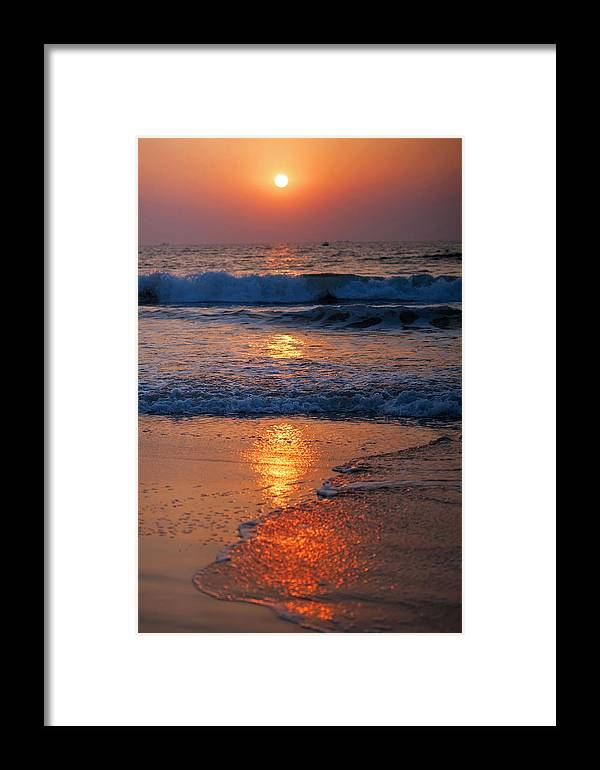 Sunset Framed Print featuring the photograph Goan Sunset. India by Jenny Rainbow