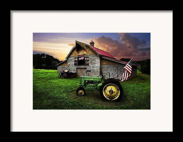 American Framed Print featuring the photograph God Bless America by Debra and Dave Vanderlaan
