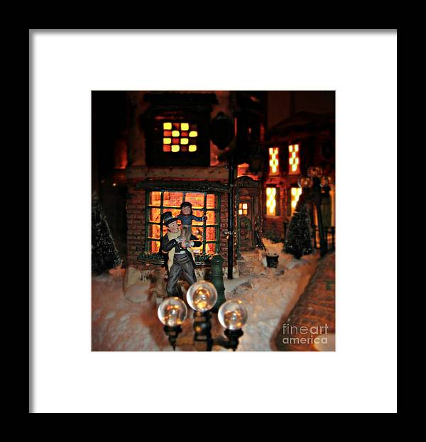 Christmas Framed Print featuring the photograph God Bless Us All by Nancy Dole McGuigan