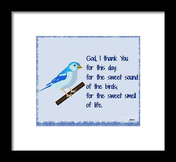 God I Thank You For This Day Framed Print featuring the painting God I Thank You for This Day by Pharris Art