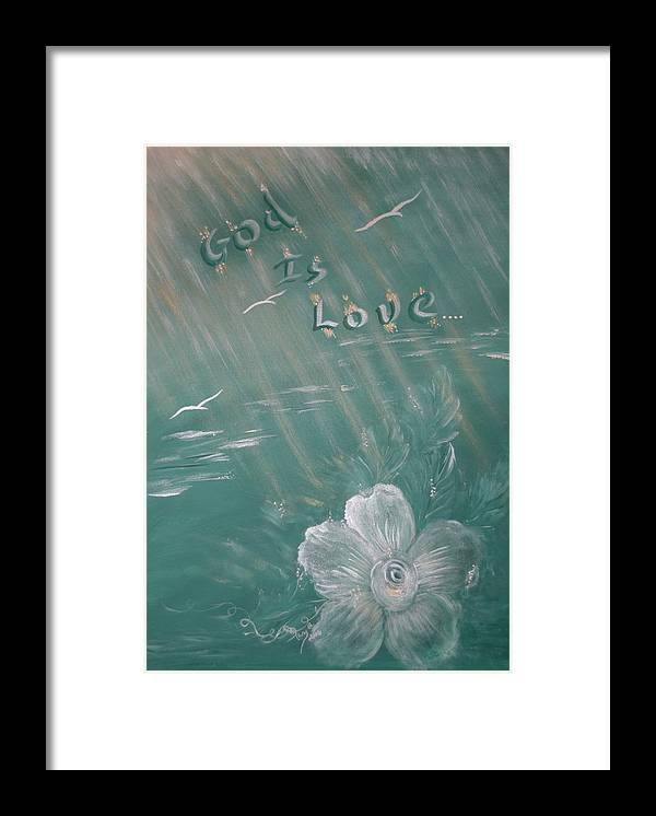 Christian Art Framed Print featuring the painting God Is Love by Mary Grabill