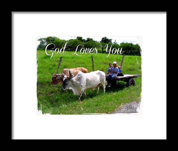 God Framed Print featuring the photograph God Loves You by Beauty For God