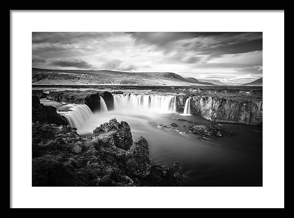 Godafoss waterfall BW by Alexey Stiop