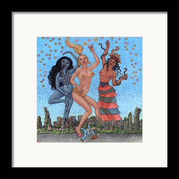 Goddess Framed Print featuring the painting Goddess Dance by Holly Wood