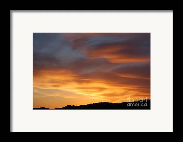 Sunset Framed Print featuring the photograph Gods Paintbrush by Jordan Rusin