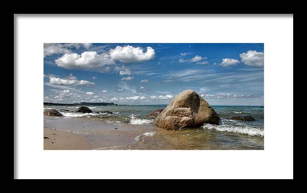 Ostsee Framed Print featuring the pyrography Goehren by Steffen Gierok