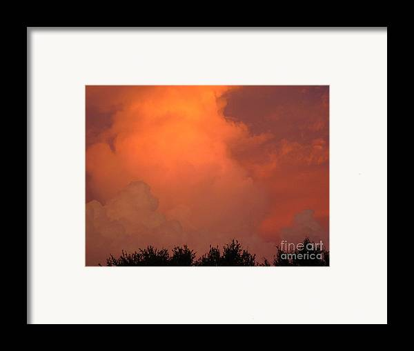 Sunset Framed Print featuring the photograph Going Out With A Boom by Elizabeth Carr