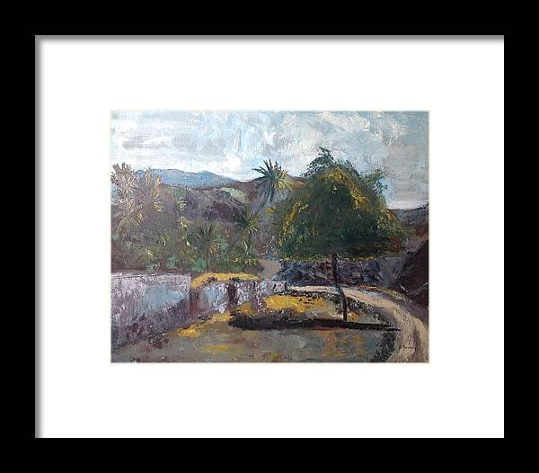 Uae Framed Print featuring the painting Going To The Friday Market At Noon by Brigitte Roshay