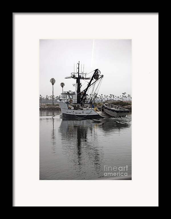 Dock Framed Print featuring the photograph Going To Work by Amanda Barcon