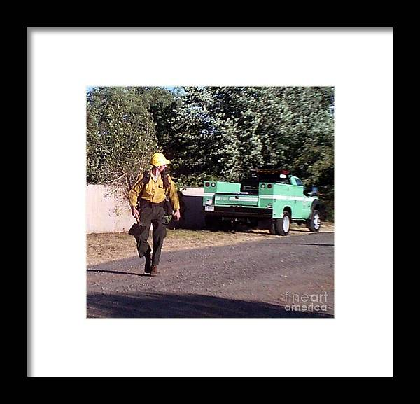Fire Framed Print featuring the photograph Going To Work by Cookie Arnett