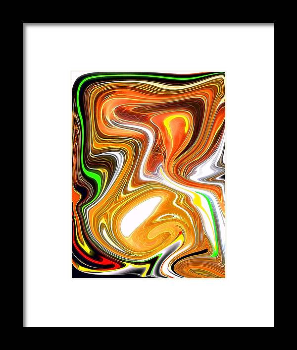 Framed Print featuring the digital art Gold 2 by Bob Riggs