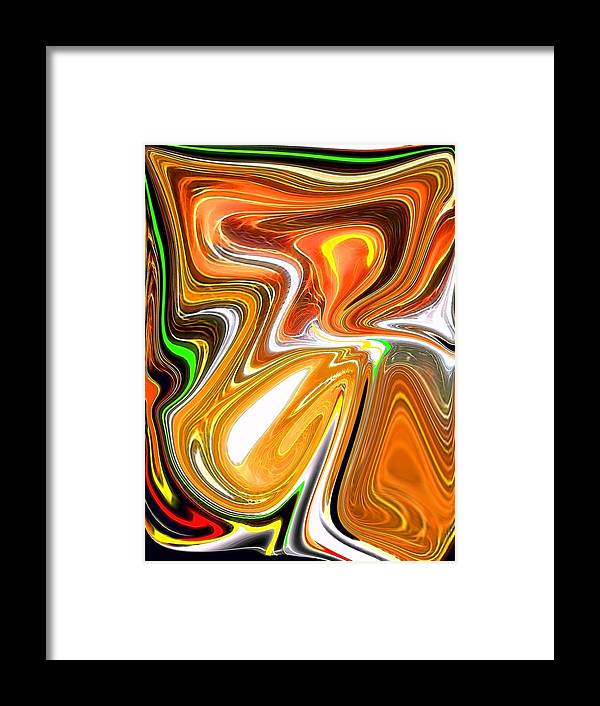 Framed Print featuring the digital art Gold 3 by Bob Riggs