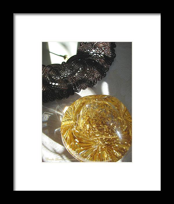 Reflective Images Framed Print featuring the photograph Gold Ball And Frame by Brooks Garten Hauschild