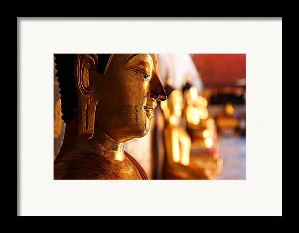 Metro Framed Print featuring the photograph Gold Buddha At Wat Phrathat Doi Suthep by Metro DC Photography