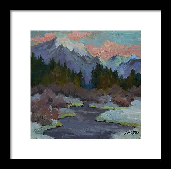 Gold Creek Framed Print featuring the painting Gold Creek Snoqualmie Pass by Diane McClary