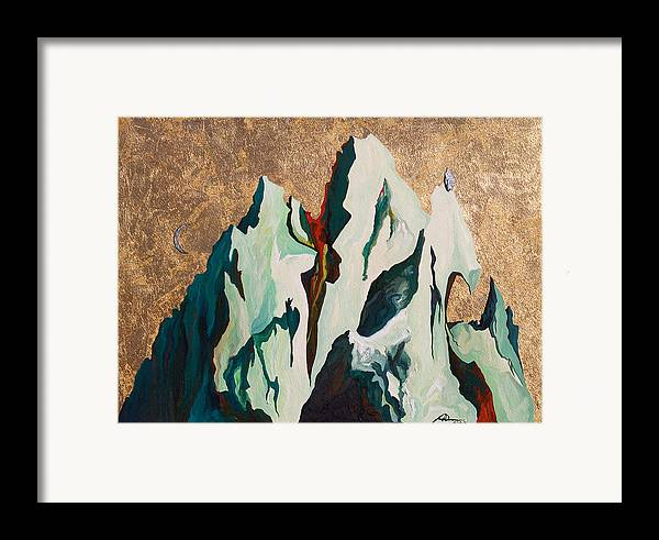 Mountains Framed Print featuring the painting Gold Mountain by Joseph Demaree