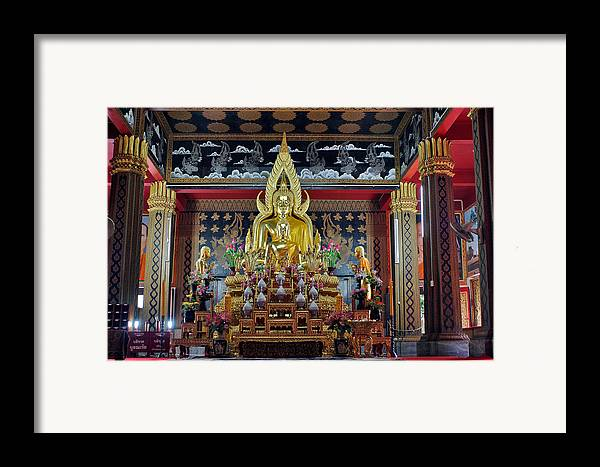 3scape Photos Framed Print featuring the photograph Golden Buddha by Adam Romanowicz