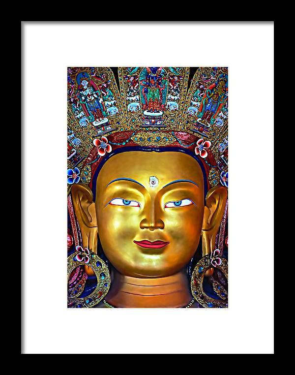 Buddhism Framed Print featuring the photograph Golden Buddha by Steve Harrington