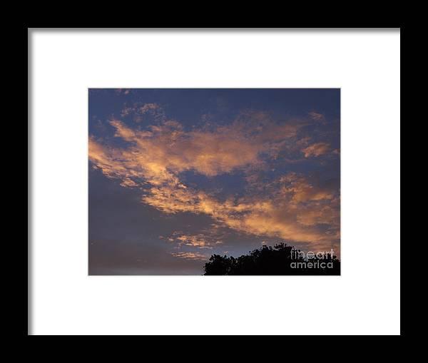 Sunset Framed Print featuring the photograph Golden Cloud Sunset by Jussta Jussta