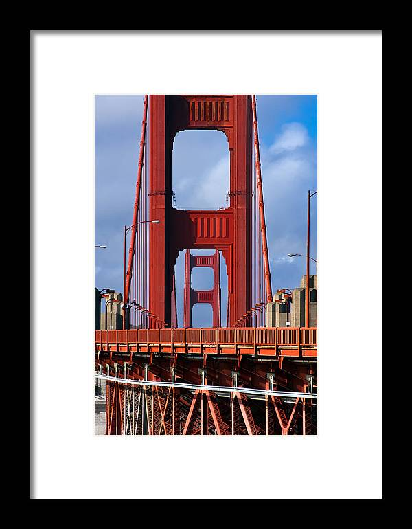 3scape Framed Print featuring the photograph Golden Gate Bridge by Adam Romanowicz