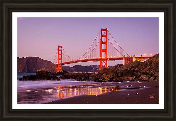 Golden Gate Bridge from Baker Beach by Alexis Birkill