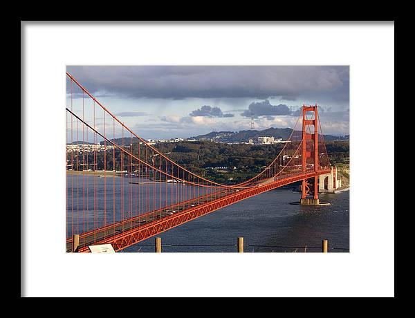 Golden Gate Bridge Framed Print featuring the photograph Golden Gate Bridge Overlook by Tim Atwater