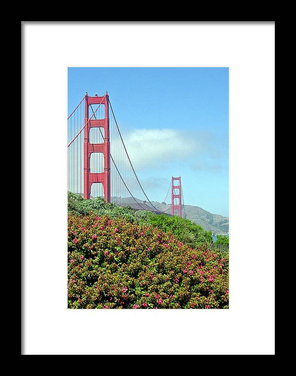 Golden Gate Bridge Framed Print featuring the photograph Golden Gate by Suzanne Gaff