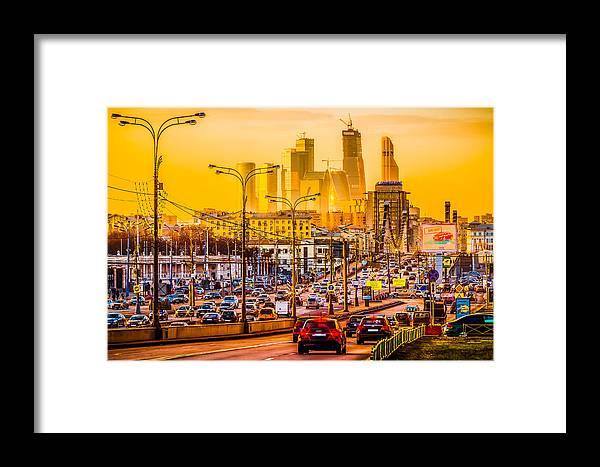 Moscow Framed Print featuring the photograph Golden Hour by Alexander Senin