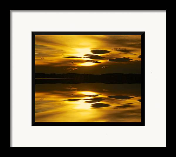 Sunset Framed Print featuring the photograph Golden by Kevin Bone