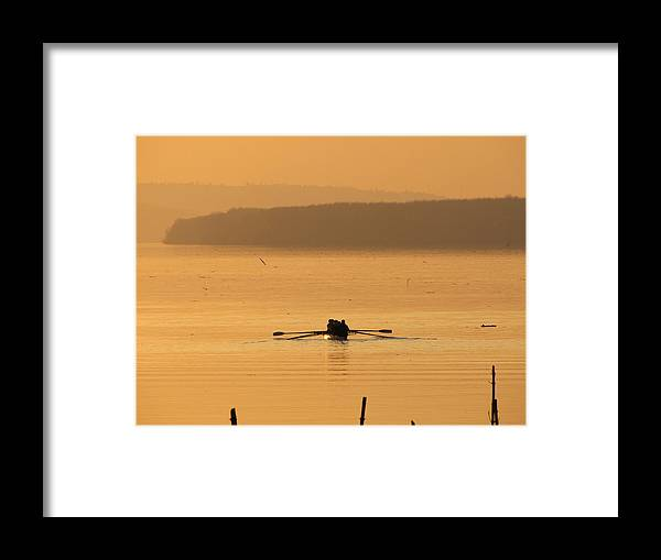 River Framed Print featuring the photograph Golden River by Natasa Cvetkovic