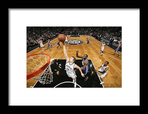 Nba Pro Basketball Framed Print featuring the photograph Golden State Warriors V Brooklyn Nets by Nathaniel S. Butler