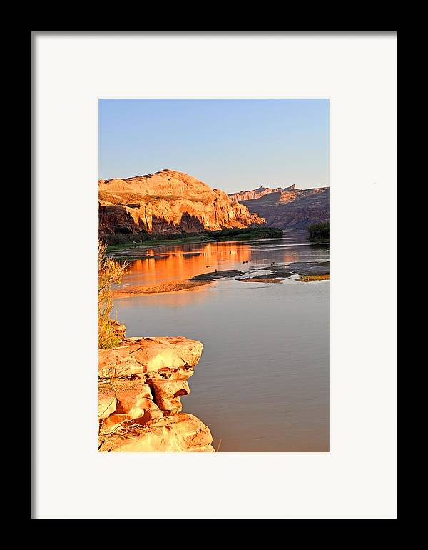 Sunset Framed Print featuring the photograph Golden Sunset On The Colorado by Marty Koch