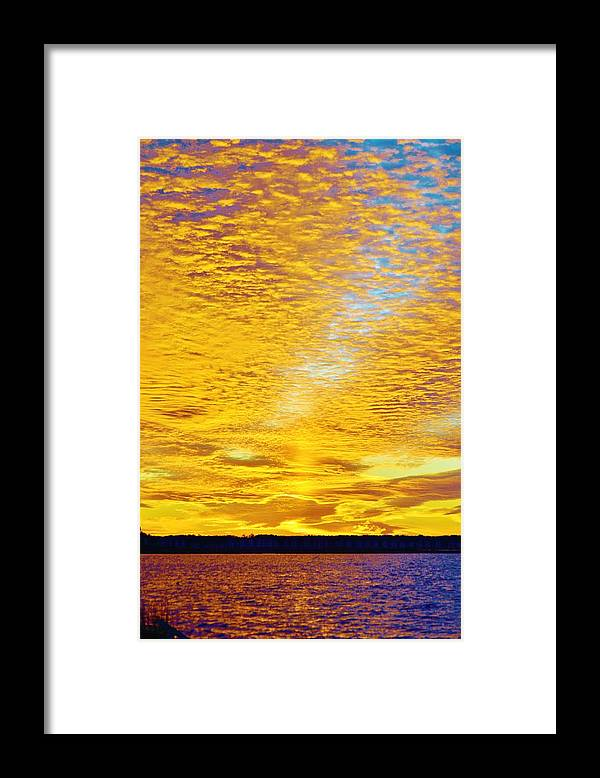 Beach Bum Pics Framed Print featuring the photograph Golden Sunset by William Bartholomew