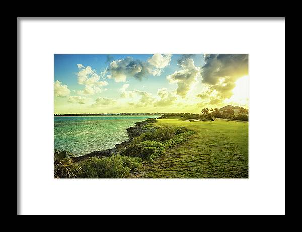 Scenics Framed Print featuring the photograph Golf Course by Chang