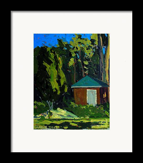 Golf Course Framed Print featuring the painting Golf Course Shed Series No.19 by Charlie Spear
