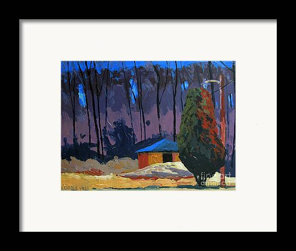 Golf Course Framed Print featuring the painting Golf Course Shed Series No.2 by Charlie Spear