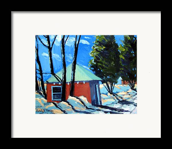 Golf Course Framed Print featuring the painting Golf Course Shed Series No.4 by Charlie Spear