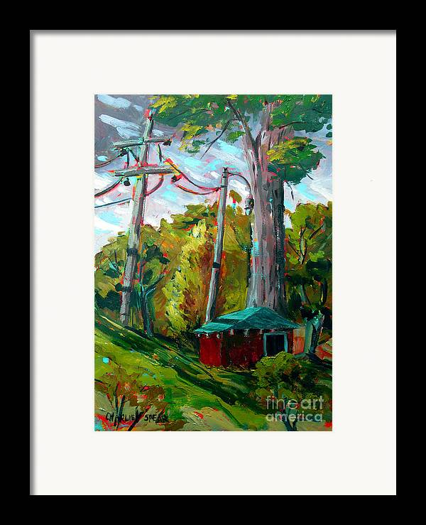 Golf Course Framed Print featuring the painting Golf Shed Series No 15 A Synthesis by Charlie Spear
